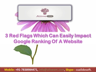 3 Red Flags Which Can Easily Impact Google Ranking Of A Website