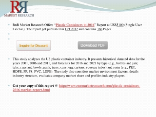 US Plastic Container Industry Research Report 2016