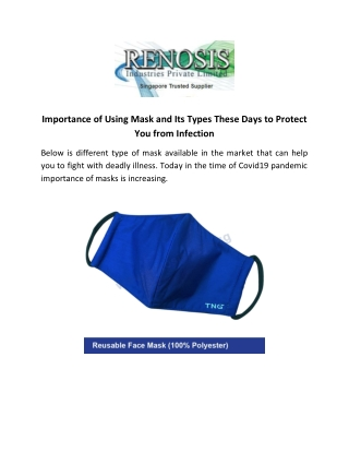 Importance of Using Mask and Its Types These Days to Protect You from Infection