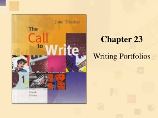 WRITING FOR YOUR INSTRUCTOR