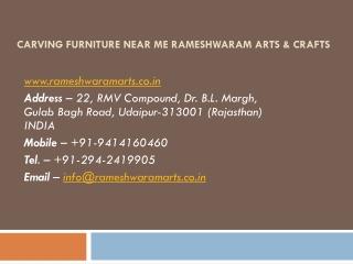 Carving Furniture near me Rameshwaram Arts & Crafts