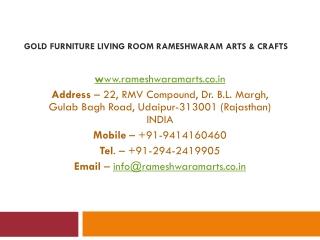 Gold Furniture Living Room Rameshwaram Arts & Crafts