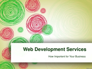 Importance of Web Development Service for Your Business