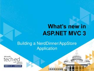 What s new in ASP MVC 3