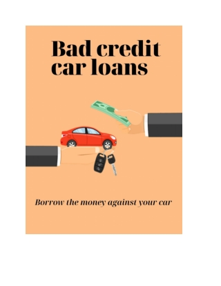 Solve Financial Issue? Get Bad Credit Car Loans Hamilton