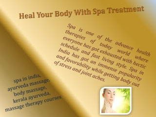 Heal Your Body With Spa Treatment