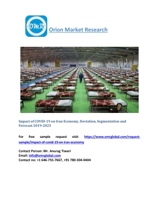 Impact of COVID-19 on Iran Economy, Deviation, Trends Analysis and Forecast 2019-2025