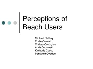 Perceptions of Beach Users