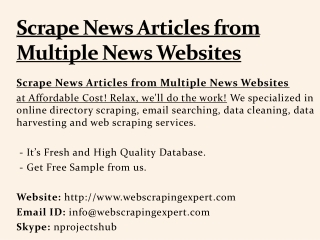 Scrape News Articles from Multiple News Websites