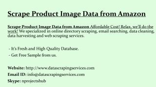 Scrape Product Image Data from Amazon