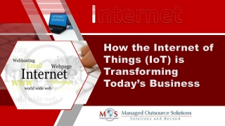 How the Internet of Things (IoT) is Transforming Today's Business