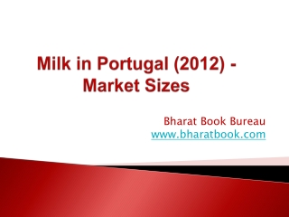Milk in Portugal (2012) - Market Sizes
