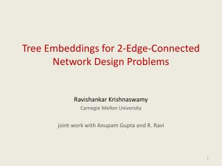 Tree Embeddings for 2-Edge-Connected Network Design Problems