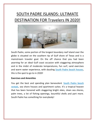 South Padre Island House Rentals