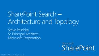 Architecture and Topology