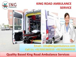 Pick Road Ambulance Service in Ranchi and Bokaro by King Ambulance