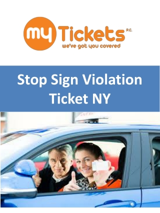 Stop Sign Violation Ticket NY