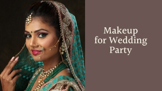 Makeup for Wedding Party - HD Makeover
