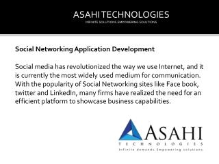 Social Media application development