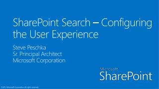SharePoint Search  – Configuring the User Experience