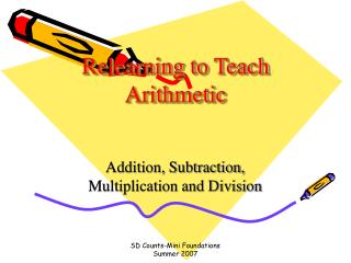 Relearning to Teach Arithmetic