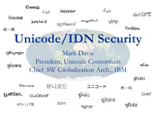 Unicode/IDN Security