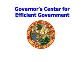 Governor's Center for Efficient Government