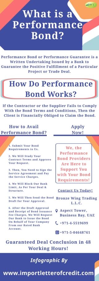 Infographic: What is a Performance Bond- Surety Bond