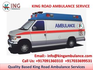 Advance Life Support King Ambulance Service in Muzaffarpur and Gaya
