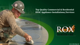 Top Quality Commercial & Residential HVAC Appliance Installations/Services