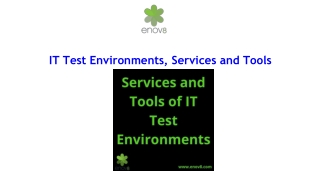 IT Test Environments, Services and Tools | Enov8