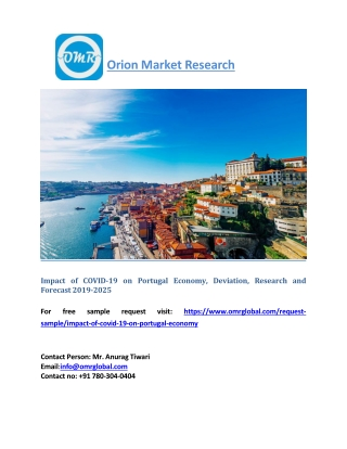Impact of COVID-19 on Portugal Economy, Deviation, Research and Forecast 2019-2025