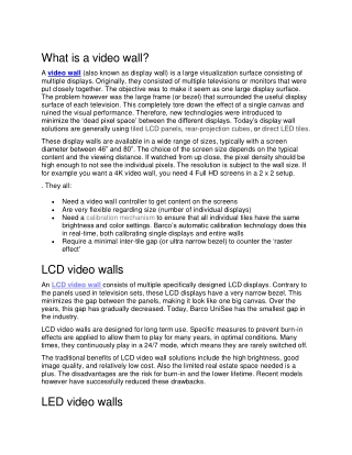 what is video wall