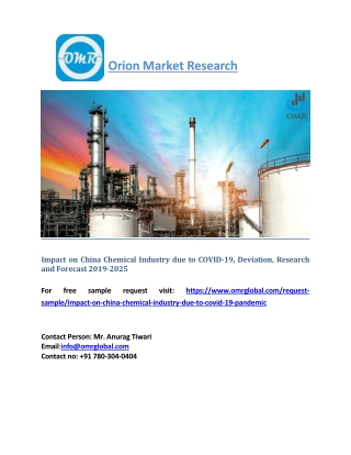 Impact on China Chemical Industry due to COVID-19, Deviation, Research and Forecast 2019-2025