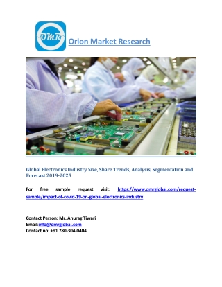 Global Electronics Industry Size, Share Trends, Analysis, Segmentation and Forecast 2019-2025