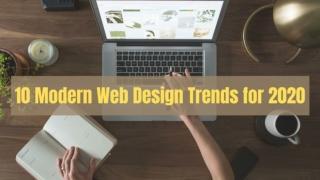 10 Modern Web Design Trends for 2020