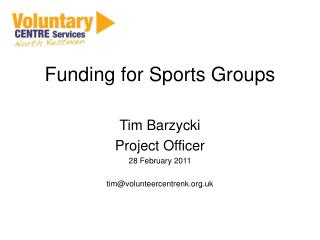 Funding for Sports Groups