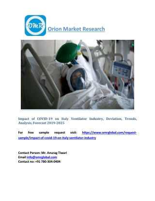 Impact of COVID-19 on Italy Ventilator Industry, Deviation, Trends, Analysis, Forecast 2019-2025