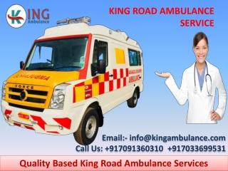 Ventilator Ambulance Service in Gaya and Darbhanga by King Ambulance