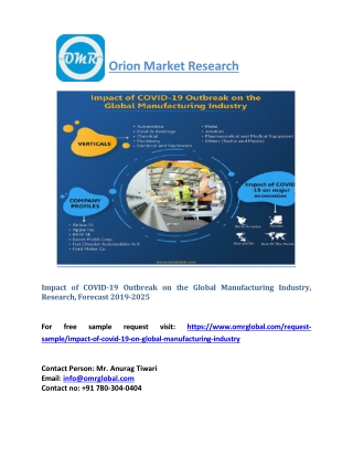 Impact of COVID-19 Outbreak on the Global Manufacturing Industry, Research 2025