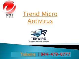 Trend Micro Antivirus - 8444796777 - Tekwire
