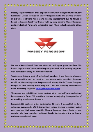 Massey Ferguson Spare Parts(farmpartsltd.com)