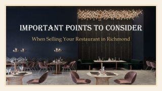 Top Tips for Selling a Restaurant in Richmond