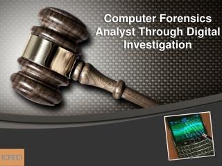 Computer Forensics Analyst Through Digital Investigation