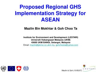 Proposed Regional GHS Implementation Strategy for ASEAN