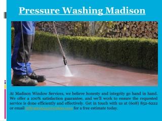 Pressure Washing Madison - Madison Window Services