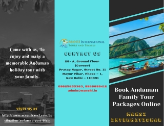 Book Andaman Family Tour Packages Online