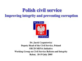 Polish civil service  Improving integrity and preventing corruption