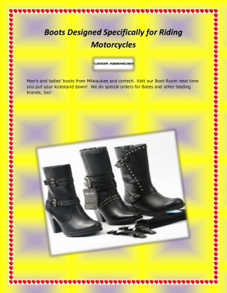 Boots Designed Specifically for Riding Motorcycles