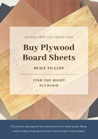 Buy Plywood Board Sheets in Manila